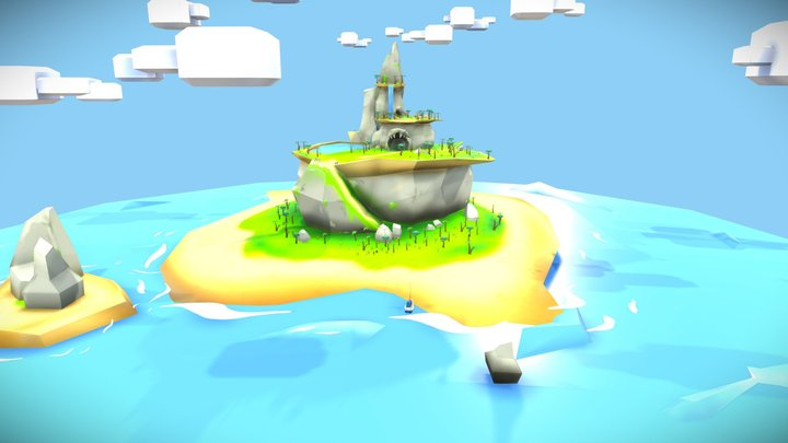 The mysterious Island 3D Model