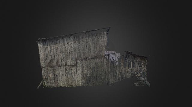 Tobacco Barn 3D Model