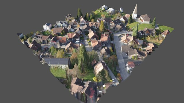 3D-Modell Dorfkern Marbach 3D Model