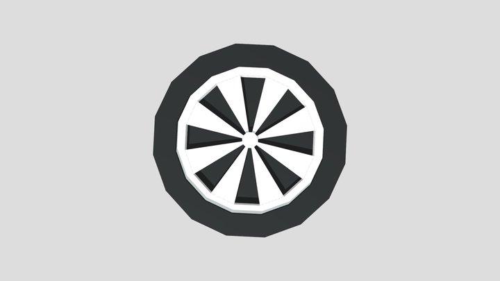 Lowpoly Tyre 3D Model