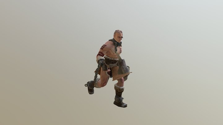 imprisoned warrior - run cycle 3D Model