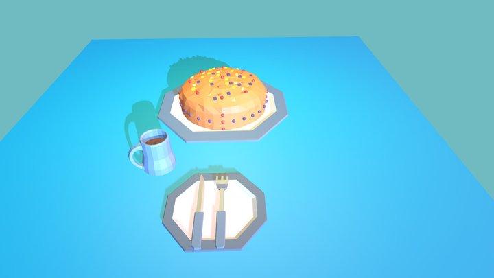 3December Day 4 Fruit Cake 3D Model