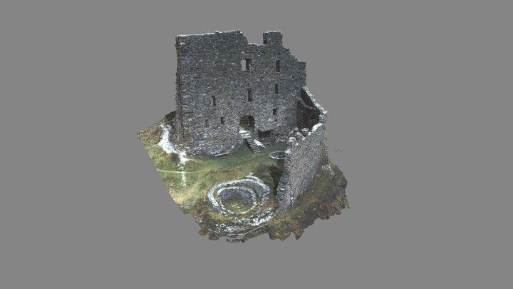Burgruine Wartenstein obere Burg 3D Model