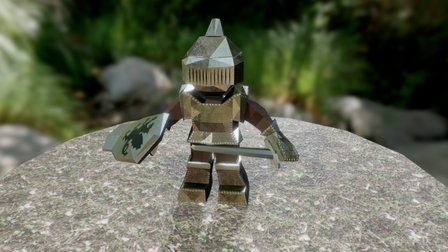 Low Poly Knight Animated 3D Model