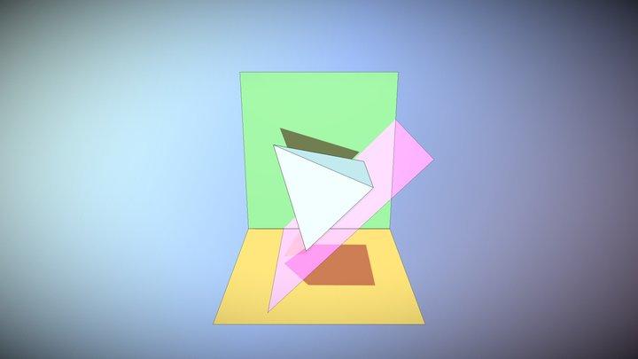 PIRAMIDE EN UN PLANO PERPENDICULAR 3D Model