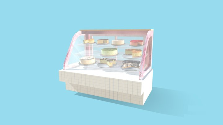Fridge For Cakes 3D Model