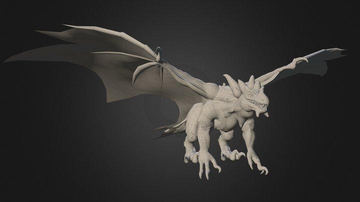 Fiery Dragon 3D Model