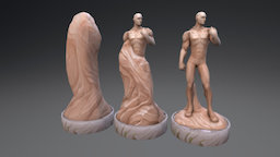 Aed Statues 3D Model