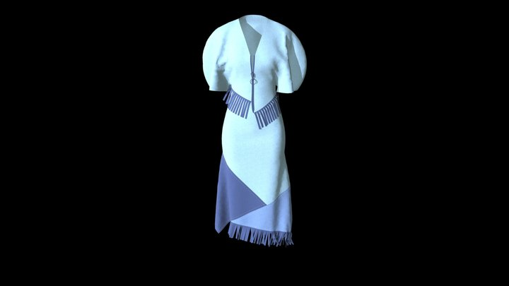 Dnipro Project Dress 3 3D Model