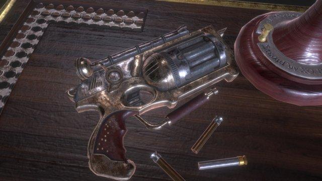 Steampunk Nerf Gun 3D Model