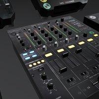 DJ Booth Equipment 3D Model