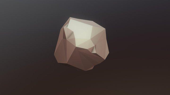 Low-Poly Rock 3D Model