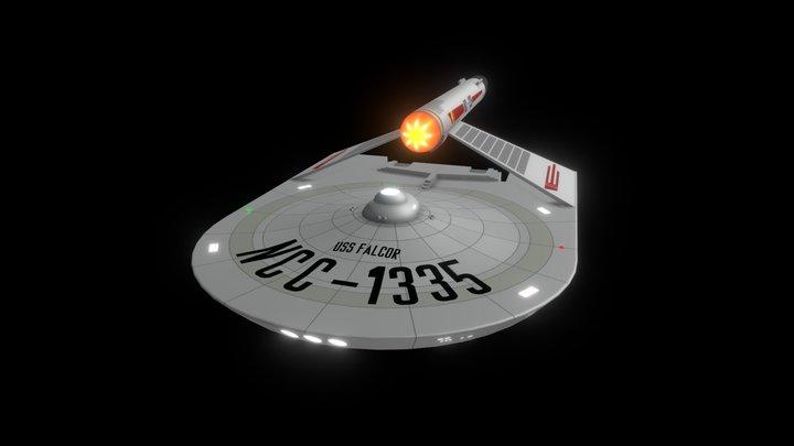 Eagle Class USS Falcor 3D Model