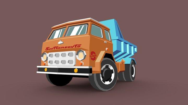 MAZ-500 Dumptruck 3D Model