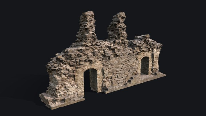 Game Ready Castle Ruins v.2 3D Model