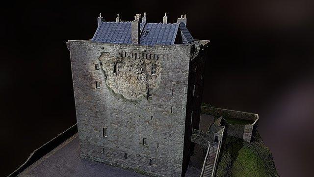 Borthwick Castle - Gorebridge - Scotland 3D Model