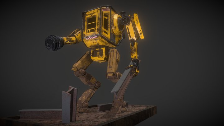 """Mecha Terraformer V. 2046 """"Dipsy"""" 3D Model"""