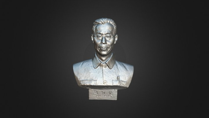 3D Scanning on Portrait Sculpture 3D Model