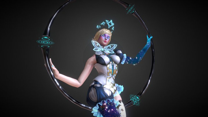 Interstellar Acrobat Queen 3D Model
