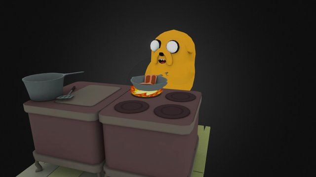 Adventure Time - Bacon Pancakes 3D Model