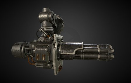 Gatling Canon unofficial fan work Warhammer 40k 3D Model