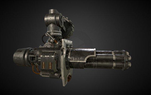 Gatling Canon unofficial fan work Warhammer 40k 3D Model
