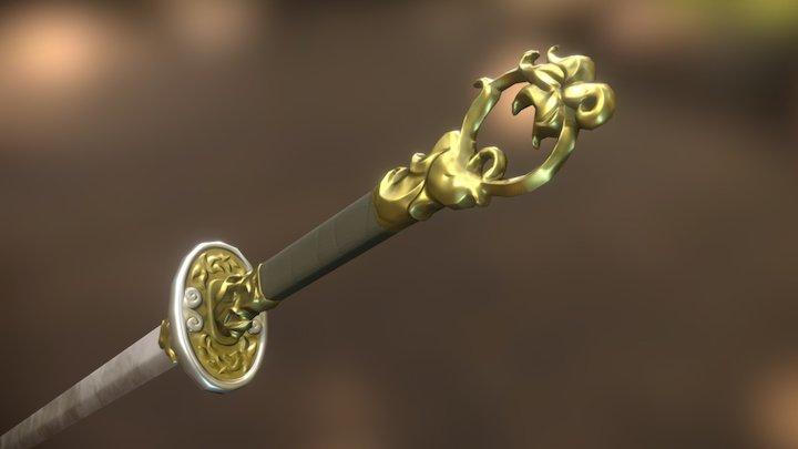 Elegant Chinese blade 3D Model