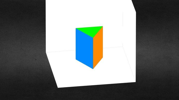 Scheda12B: Proiezioni Ortogonali di un Prisma 3D Model
