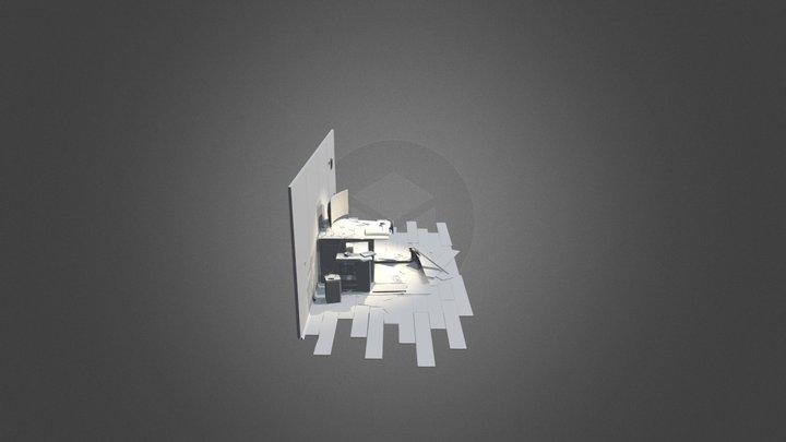 Destroyed Room DP XYZ Live 3D Model