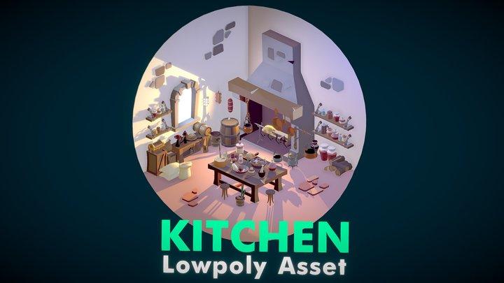 Kitchen Lowpoly Asset pack 3D Model