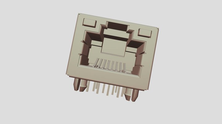 Connecteur RJ45 3D Model