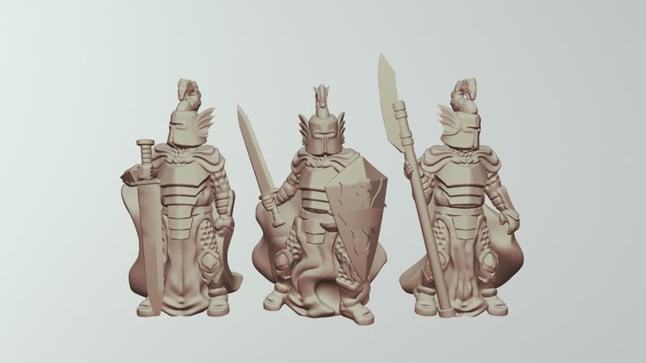 Dragon Knights 3D Model