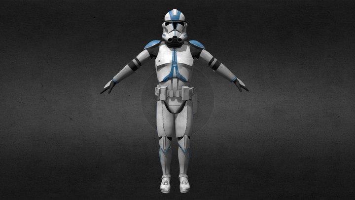 Clone Trooper Phase2 (501st) 3D Model