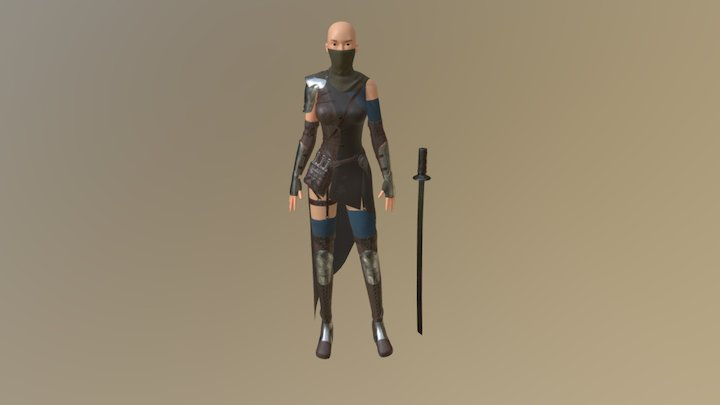 Thief girl 3D Model