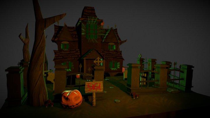 Art Halloween SAGA SCHOOL 3D Model