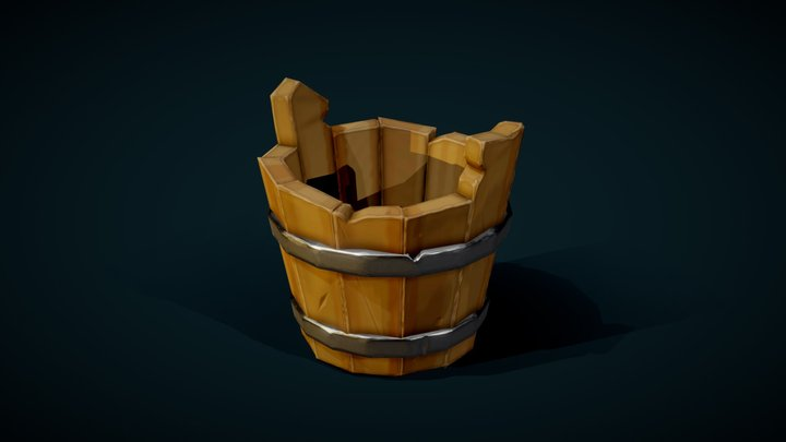 Stylized Bucket 3D Model