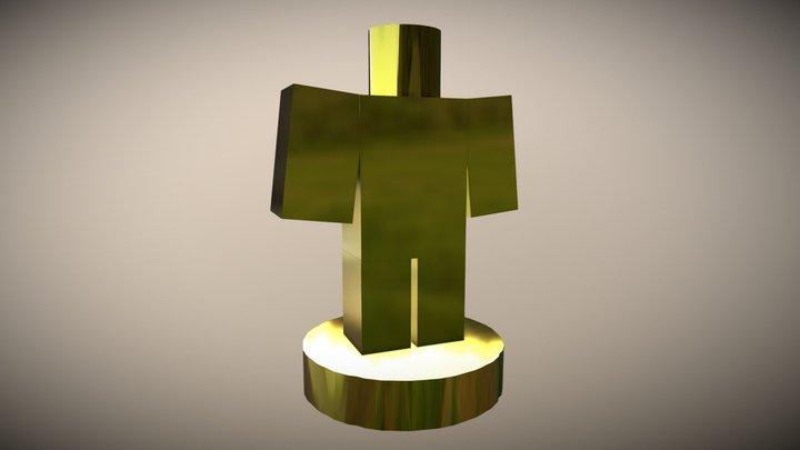 Roblox Trophie (Gold) 3D Model