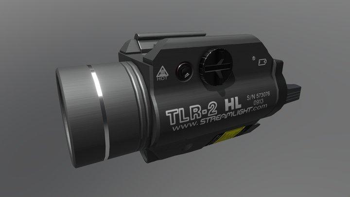 Streamlight TLR2 Flashlight 3D Model