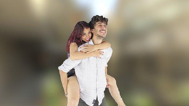 Elif E Gianluca 3D Model