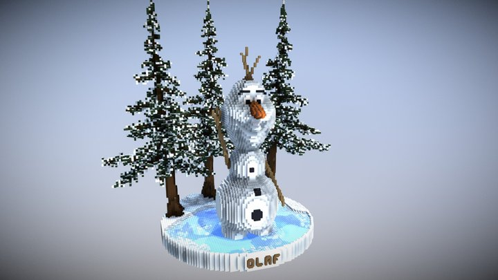 Olaf - Frozen (Minecraft Organic) 3D Model