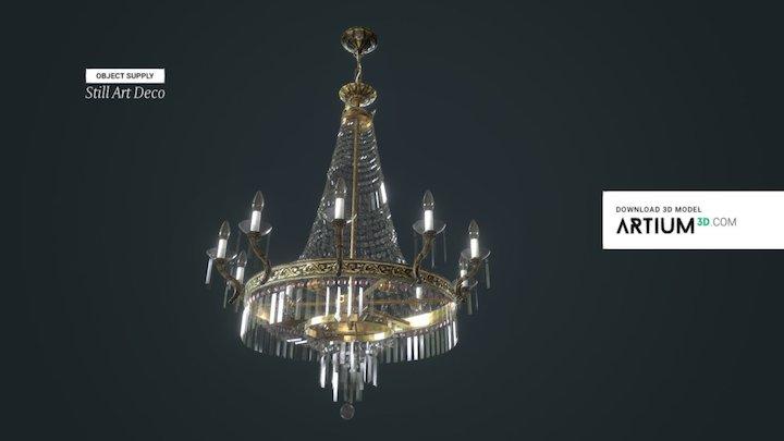 Classicist crystal chandelier -  Around 1930 3D Model
