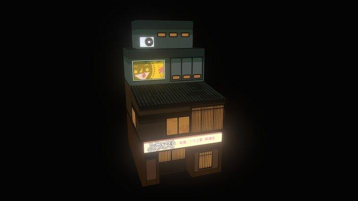Old Ramen Shop 3D Model