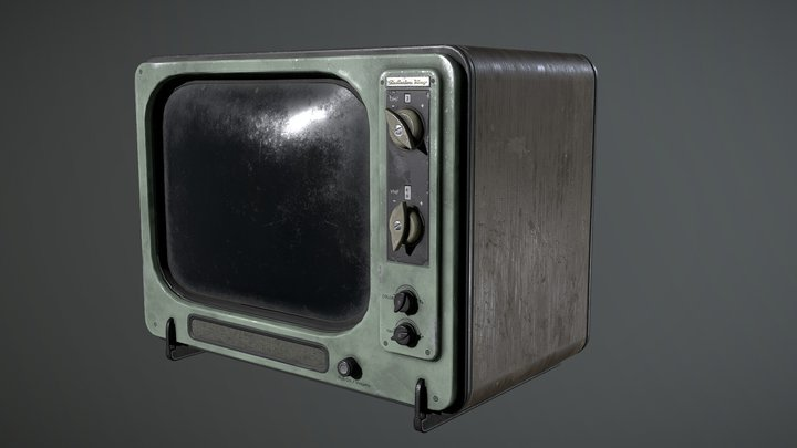 Vintage TV - Fallout 4 New Vegas 3D Model