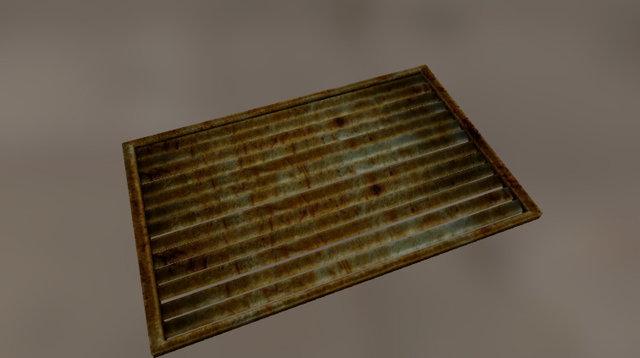 Free Steel Window 3D Model