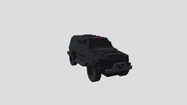 Amored Police Truck 3D Model