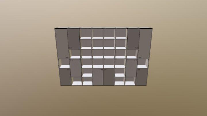 Libreria ufficio 8 moduli H 245 3D Model
