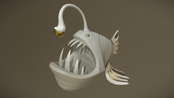 Anglerfish Statue 3D Model