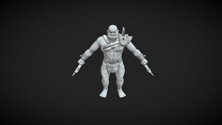 Orc WIP 3D Model