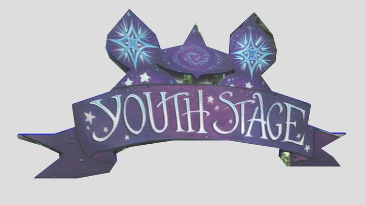 OCF Youth Stage Sign 3D Model