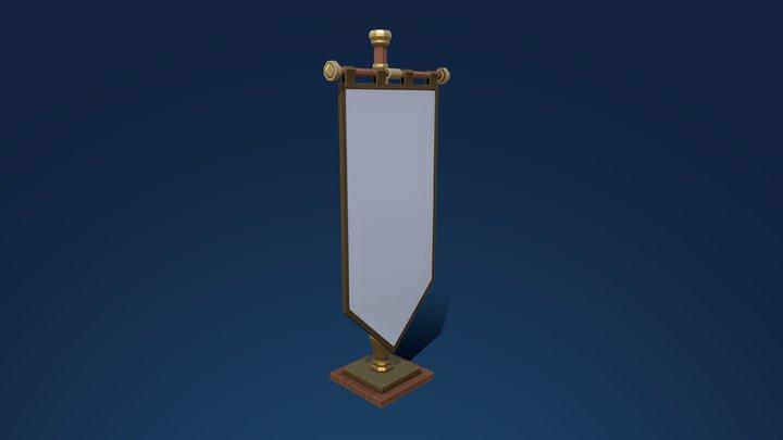 Low Poly Banner/Flag 3D Model